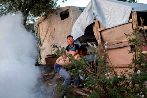 Kebakaran di Kamp Pengungsi Yunani, Dua Tewas