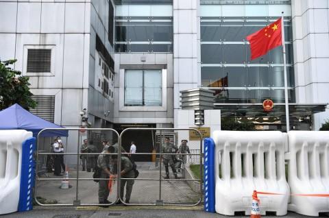 Tiongkok Peringati Hari Nasional, Polisi Hong Kong Bersiaga