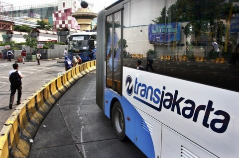 Layanan Bus TransJakarta di Sejumlah Titik Disetop