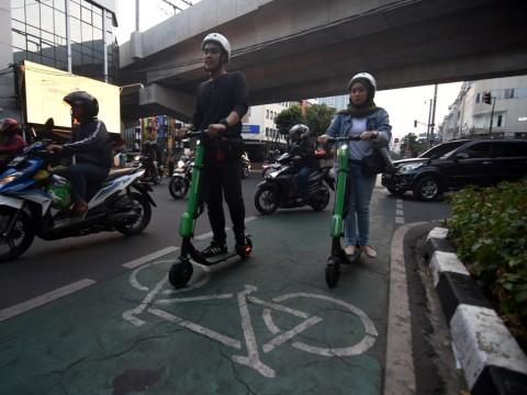 Belum Ada Regulasi Penggunaan Otopet Listrik di Jalan Raya