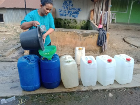 Stok Air Bersih BPBD Kudus Menipis