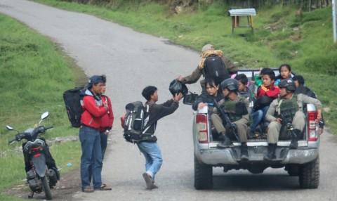 Pengungsi di Wamena Berkurang