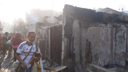 Kesaksian Korban Kebakaran Taman Sari