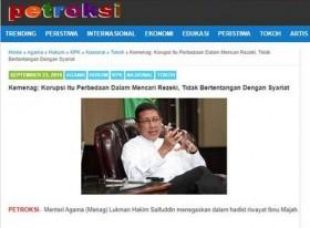 Menag Sebut Korupsi Tidak Bertentangan dengan Syariat Islam? Ini Faktanya