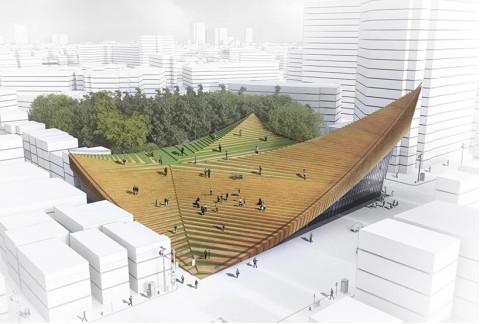 Desain Atap The Tokyo Music Hall Mirip Masjid Raya Sumatera Barat