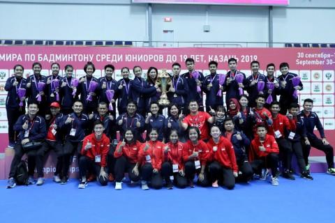 Tim Bulu Tangkis Junior Indonesia Ukir Sejarah di Rusia