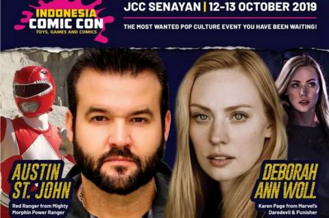 Pemeran Power Ranger Merah akan Datang ke Indonesia Comic Con