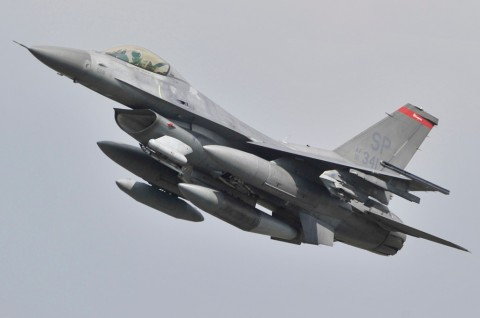 Pesawat Jet Tempur F-16 AS Jatuh di Jerman