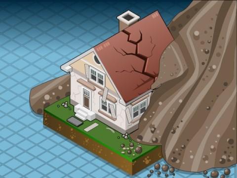 Tujuh Rumah Rusak Tertimpa Batu Raksasa