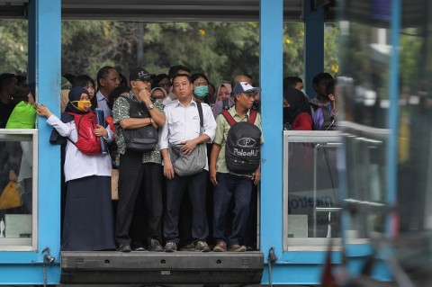 Rute TransJakarta Dialihkan karena Demonstrasi Buruh