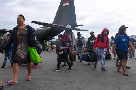Situasi Kondusif, 88 Pengungsi Kembali ke Wamena