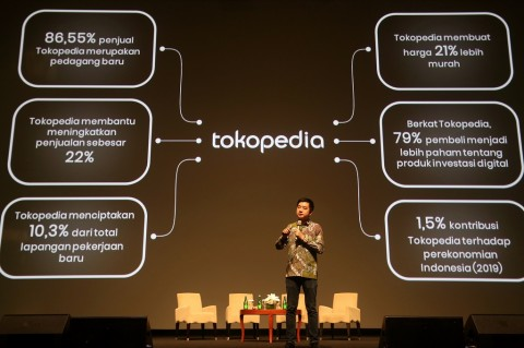 Genap 10 Tahun, Tokopedia Sumbang 1,5% Perekonomian Indonesia