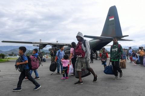 93 Pengungsi di Sentani Kembali ke Wamena