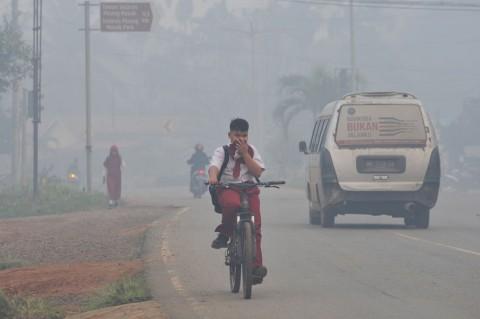 Jambi Kembali Diselimuti Kabut Asap Pekat