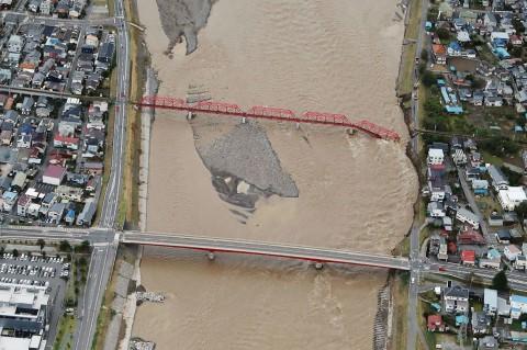 Hagibis Terjang Jepang, Sejumlah Wilayah Terendam Banjir