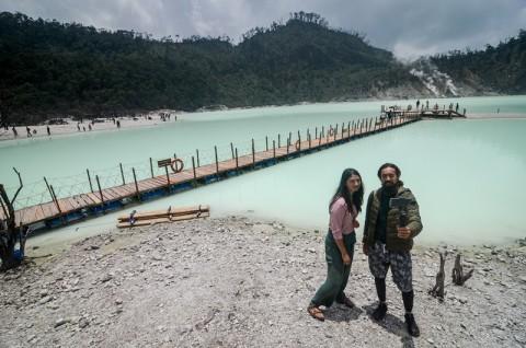Wisata Kawah Putih Bandung Mulai Dibuka Pascakebakaran