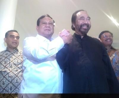 Surya Paloh tak Masalah Gerindra Merapat ke Koalisi