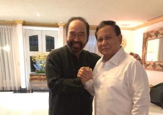 Tiga Poin Kesepakatan Surya Paloh-Prabowo Subianto