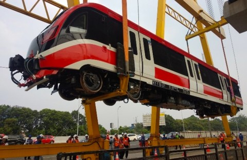Jabodebek LRT Project Uses 60% Domestic Material