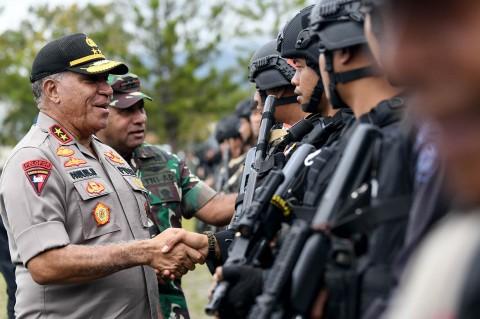 TNI-Polri Gelar Apel Gabungan di Wamena