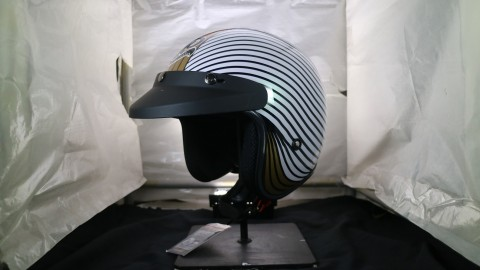 JP Ajak Katros Garage kolaborasi Bikin Helm Retro