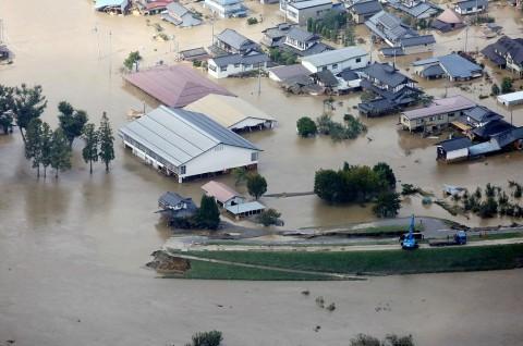 Hujan Deras Hambat Pencarian Korban Topan Hagibis
