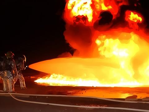 Lahan di Belakang Pabrik Honda Sunter Terbakar