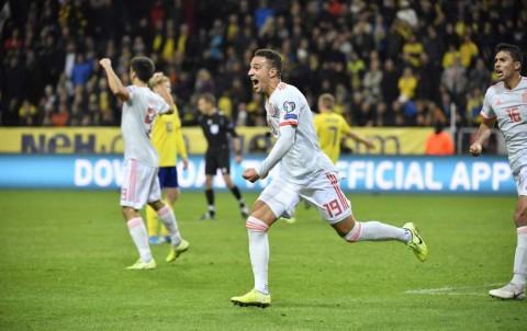 Tahan Imbang Swedia, Spanyol Lolos ke Piala Eropa 2020