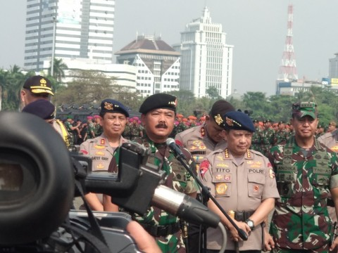30 Thousand Joint Personnel to Guard Jokowi's Inauguration