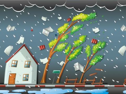 Cianjur Dilanda Angin Kencang dan Hujan Es