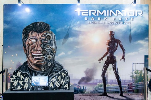 Merayakan Terminator: Dark Fate, Seniman Naufal Abshar Ciptakan Lukisan Immortal Man