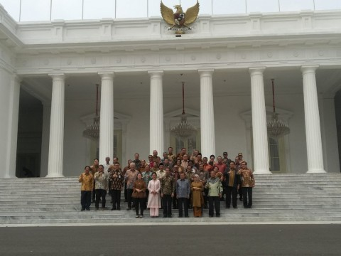 Potret Terakhir Kebersamaan Jokowi-JK dan Kabinet Kerja