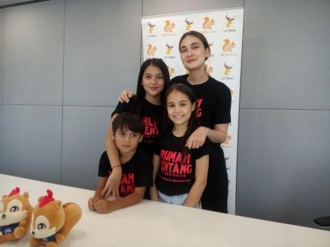 Pemain Cilik Film Rumah Kentang Malu Akting Bareng Luna Maya