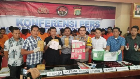 87 Tersangka Narkoba di Tangerang Digiring ke Pengadilan