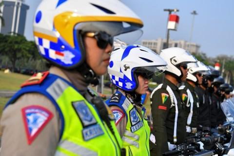 Ribuan Personel Polda Jabar Siaga Pelantikan Presiden