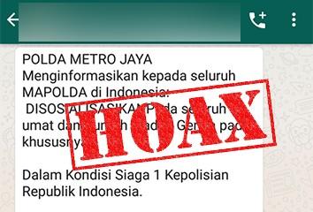 [Cek Fakta] Jakarta Siaga I? Hoaks