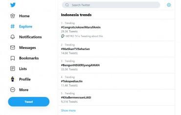 Ucapan Selamat Jokowi-Ma'ruf Banjiri Medsos Sejak Jelang Pelantikan