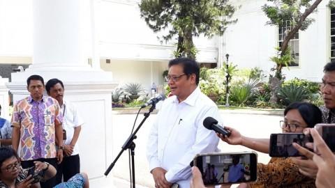 Airlangga Bahas Masalah Ekonomi dengan Jokowi