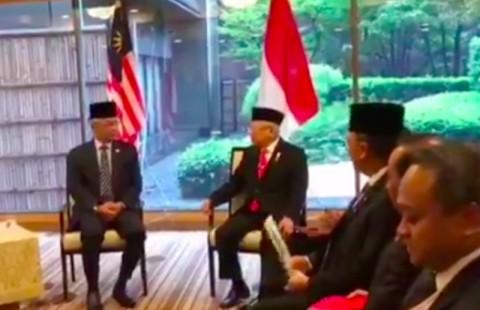 Wapres Ma'ruf Minta Raja Malaysia Lindungi WNI