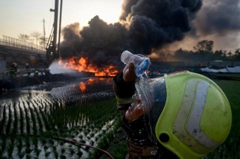 Polisi Masih Pastikan Identias Korban Tewas Kebakaran Pipa