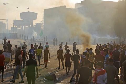 157 Orang Tewas dalam Bentrokan saat Protes Irak
