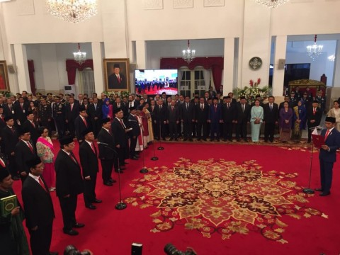 Jokowi Inaugurates New Cabinet Members