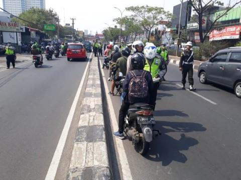 Ratusan Motor Terjaring Razia di Depok