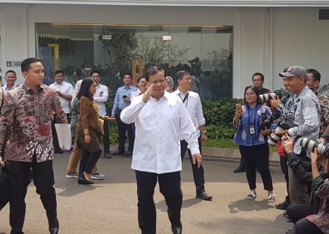 Prabowo Mengikuti Sidang Perdana Kabinet