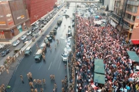 Demonstran Blokade Sejumlah Ruas Jalan Ibu Kota Lebanon