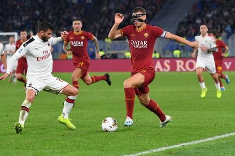 Gol Dzeko dan Zaniolo Bantu Roma Kalahkan Milan