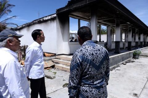 Jokowi Ingin Rehabilitasi Infrastruktur Pascakerusuhan Wamena Dipercepat