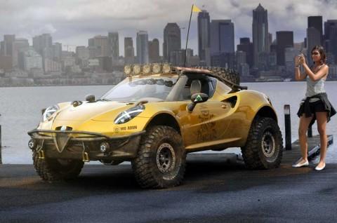 Tampilan Sangar Alfa Romeo 4C Bergaya Reli Dakar