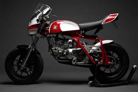Intip Mini Cafe Racer 'Magnum 50' Garapan DavMo Moto Collective