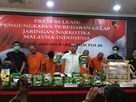 Bareskrim Bongkar Sindikat Narkoba Malaysia-Indonesia